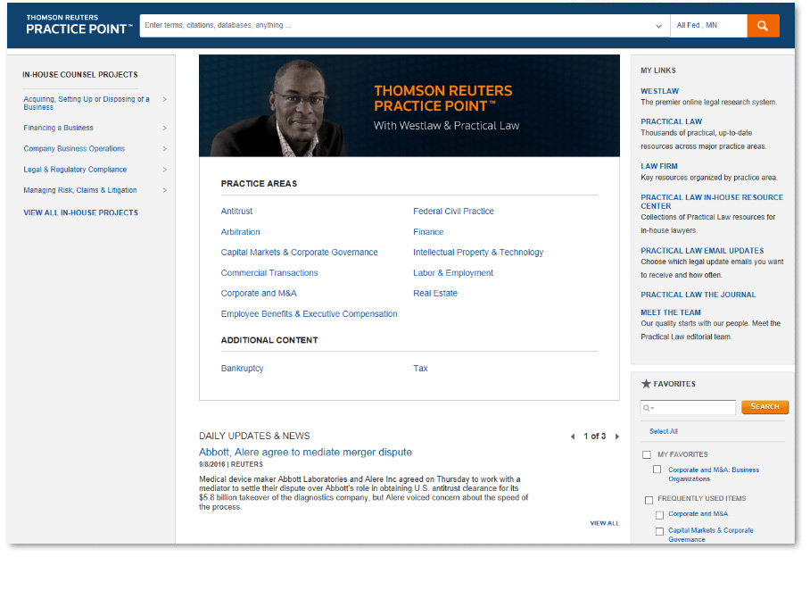 Practice Point - In-house counsel screen shot 1
