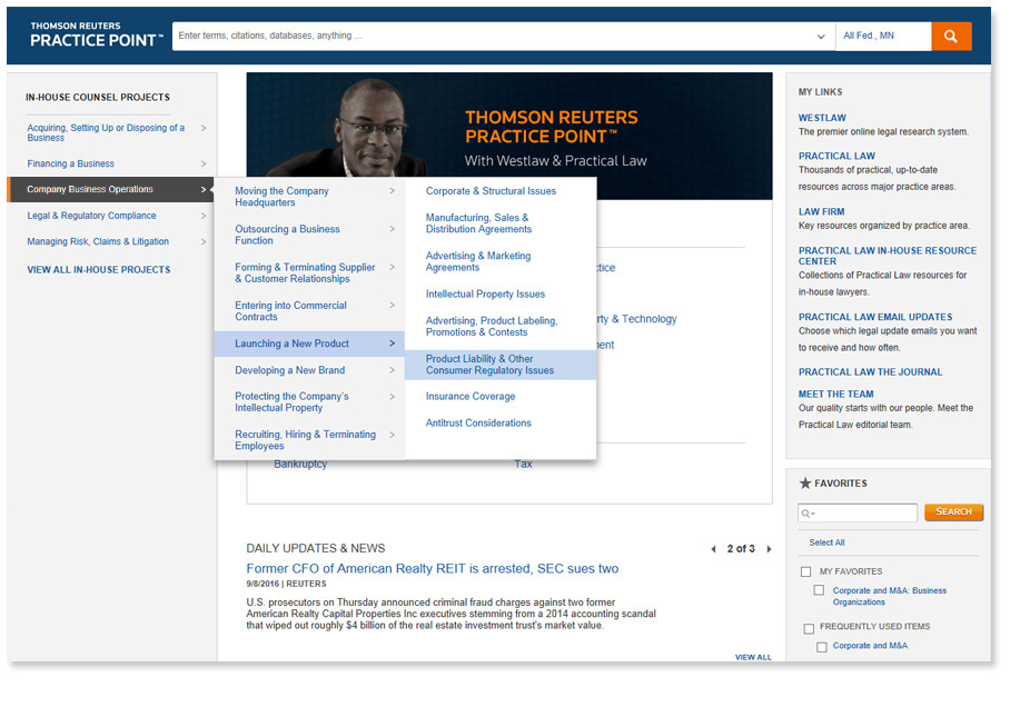 Practice Point - Law firm screen shot 2