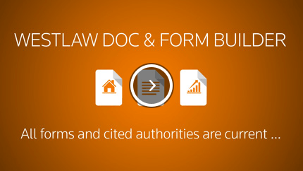 Westlaw Form Builder Overview Video