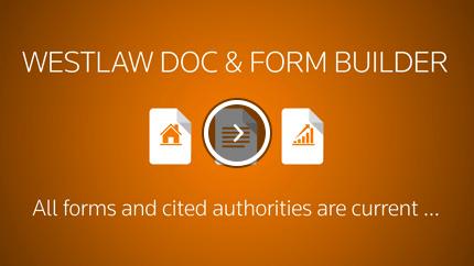 Westlaw Form Builder Overview Video