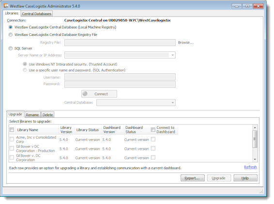 To access the Administrator, click Start, then click All Programs, CaseLogistix, Westlaw CaseLogistix Administrator