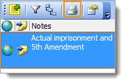 Notes toolbar