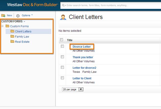 Custom Forms Folder
