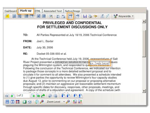 Redaction code screen shot