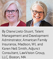 By Diane Lietz-Stuart, Talent Management and Development Adminstrator, American Family Insurance, Madison, WI, and Karen Nell Smith, Adjunct Consultant, LawVision Group, LLC, Boston, MA