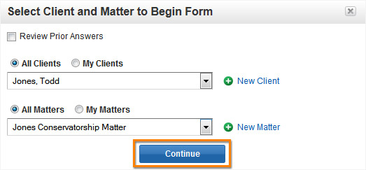 Select Matter Client