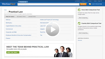 Practical Law - Westlaw screenshot