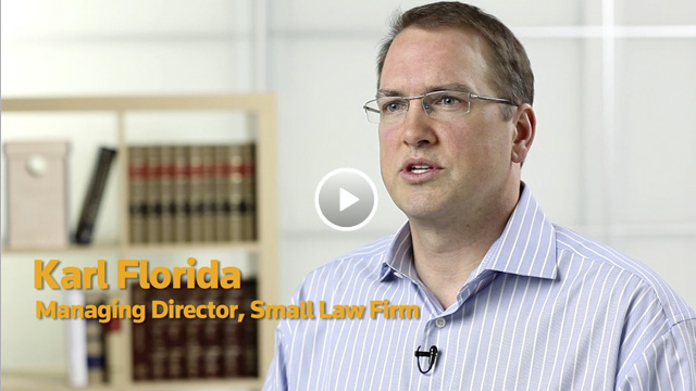 Karl Florida of Thomson Reuters tells how cloud-based Firm Central small law firm management software saves time and money and gets real results